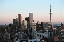 This photograph shows the downtown area of Toronto.