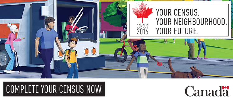 Census 2016. Your census, your neighbourhood, your future. Complete your census now.