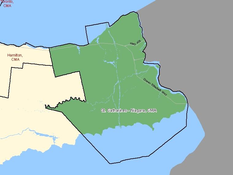Map – St. Catharines - Niagara (CMA)