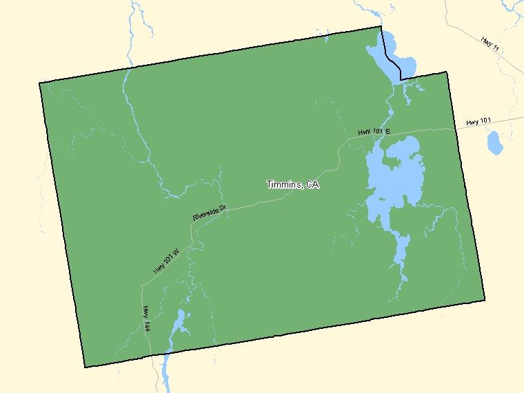 Map – Timmins (CA)