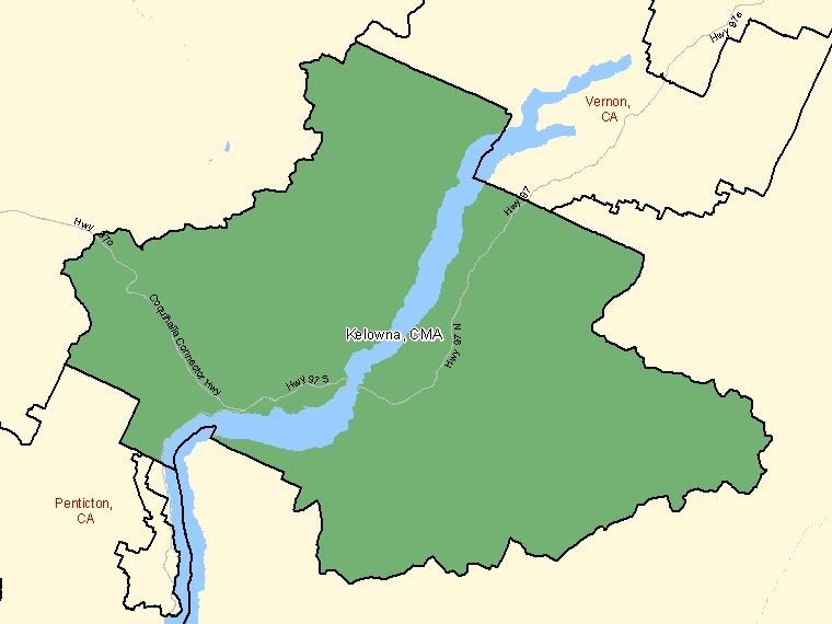 Map – Kelowna (CMA)
