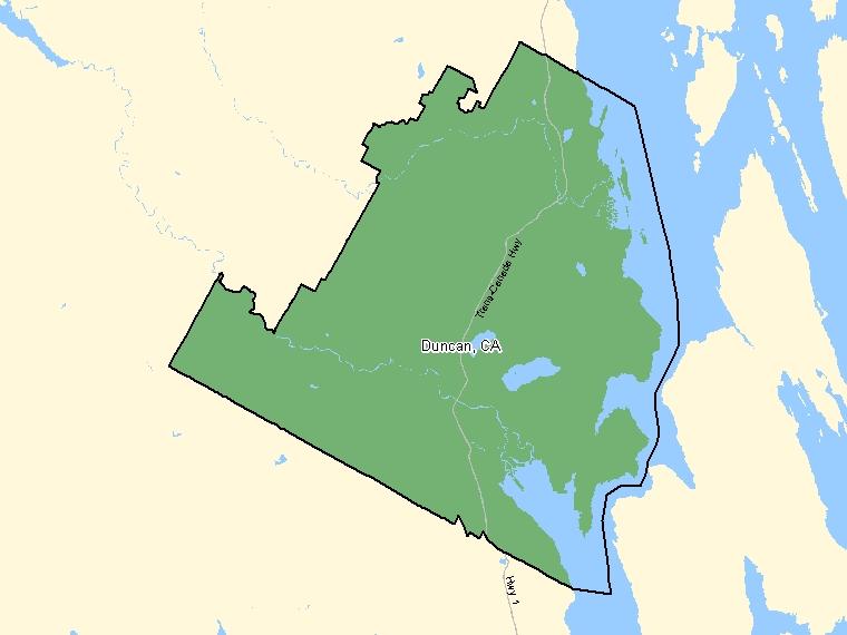 Map – Duncan (CA)