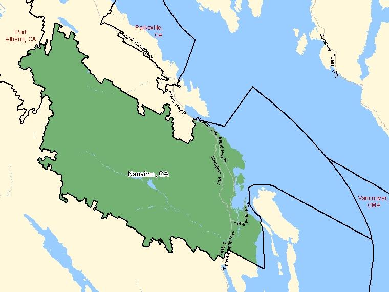 Map – Nanaimo (CA)