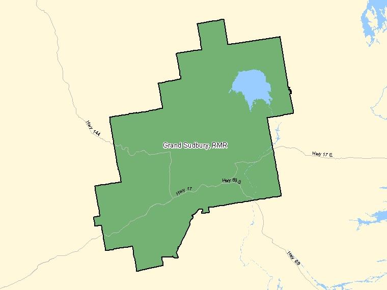 Carte – Greater Sudbury / Grand Sudbury (RMR)