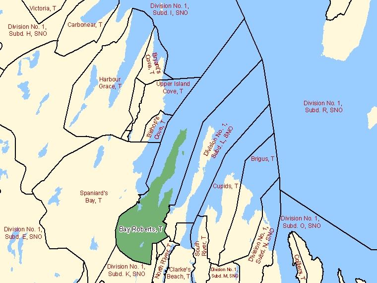 Map – Bay Roberts (T)