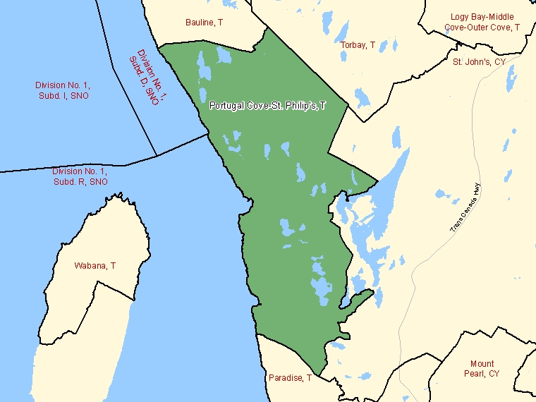 Map – Portugal Cove-St. Philip's (T)