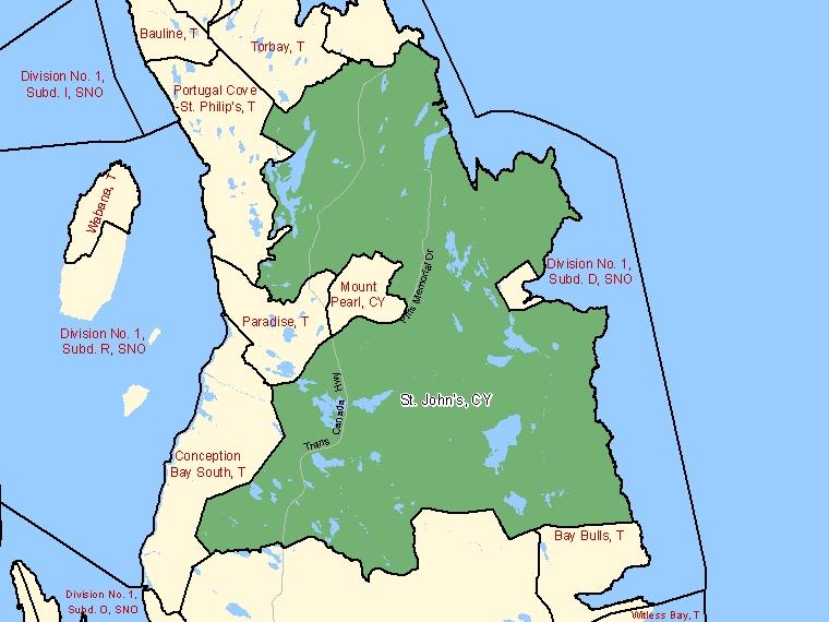 Map – St. John's (CY)