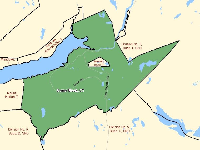 Map – Corner Brook (CY)