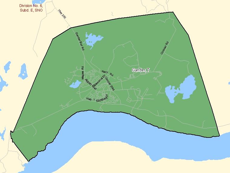 Map – Gander (T)
