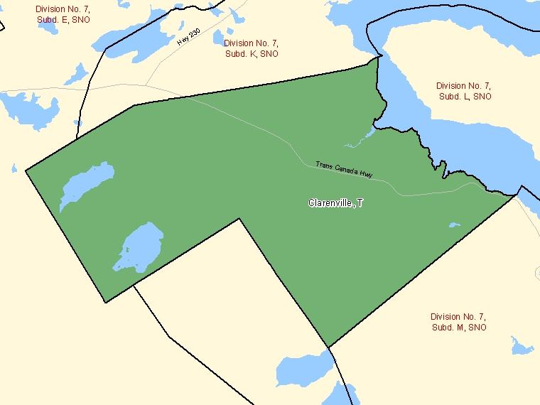 Map – Clarenville (T)