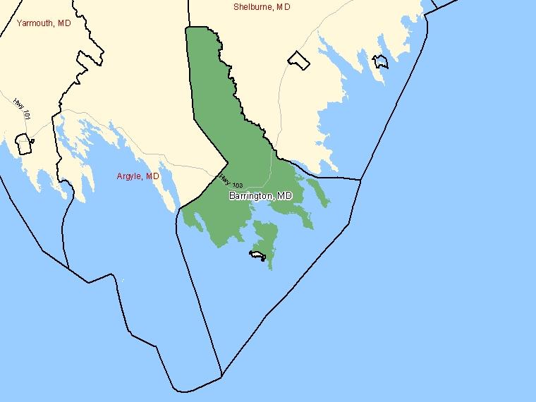 Map – Barrington (MD)