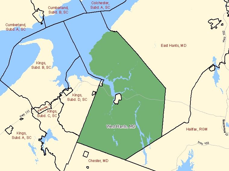 Map – West Hants (MD)