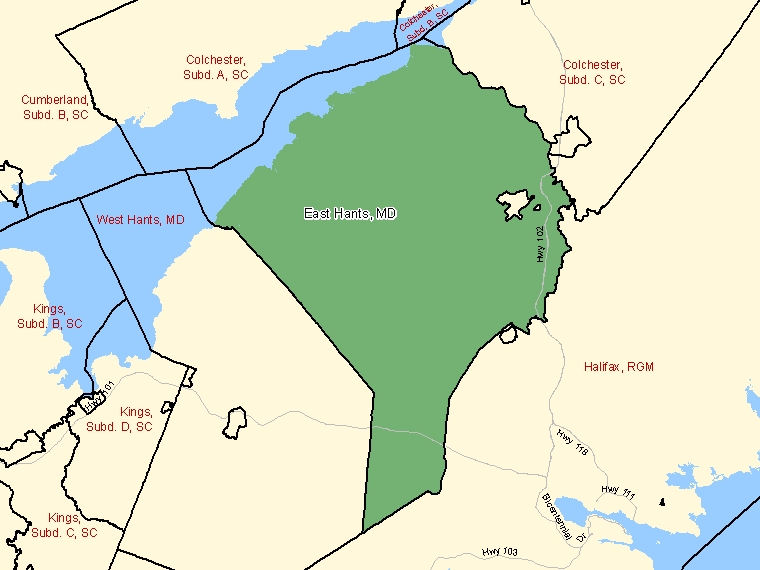 Map – East Hants (MD)