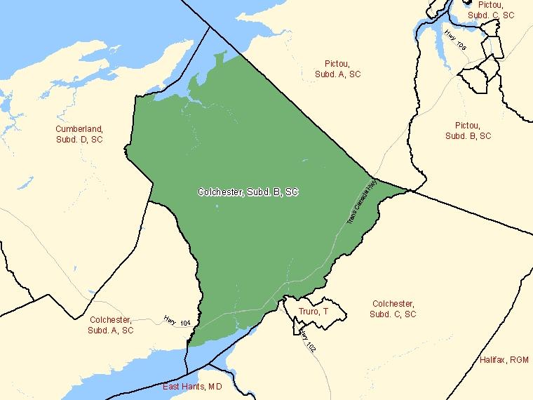 Map – Colchester, Subd. B (SC)