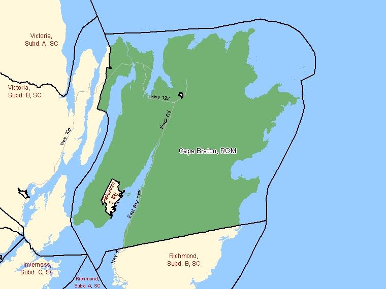Map – Cape Breton (RGM)
