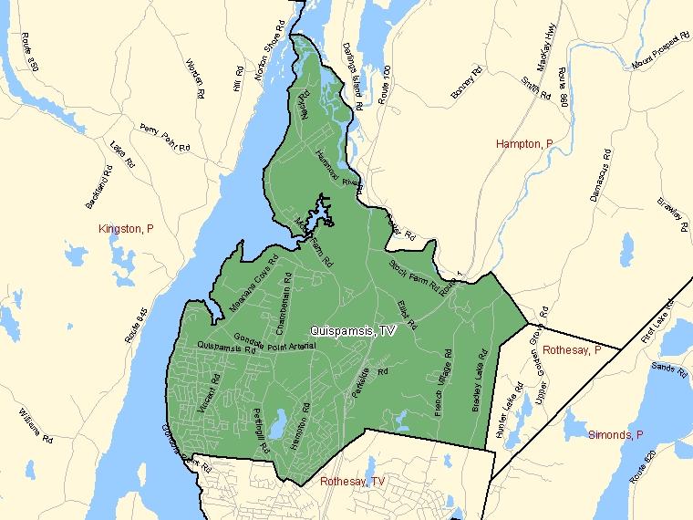Map – Quispamsis (TV)