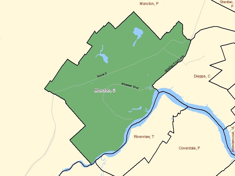 Map – Moncton (C)