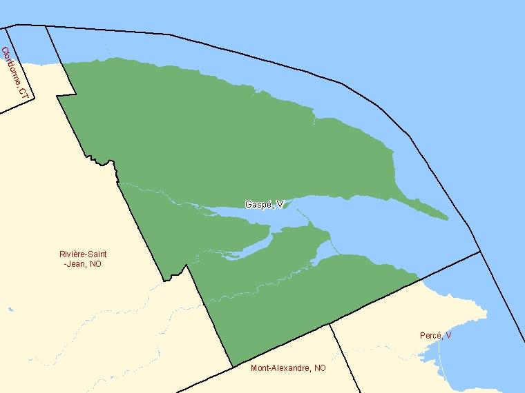 Map – Gaspé (V)