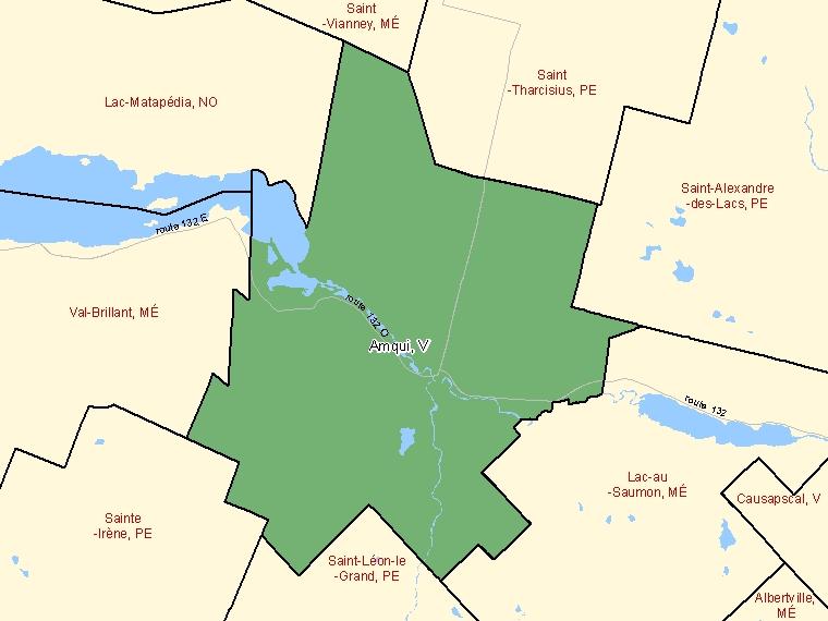 Map – Amqui (V)