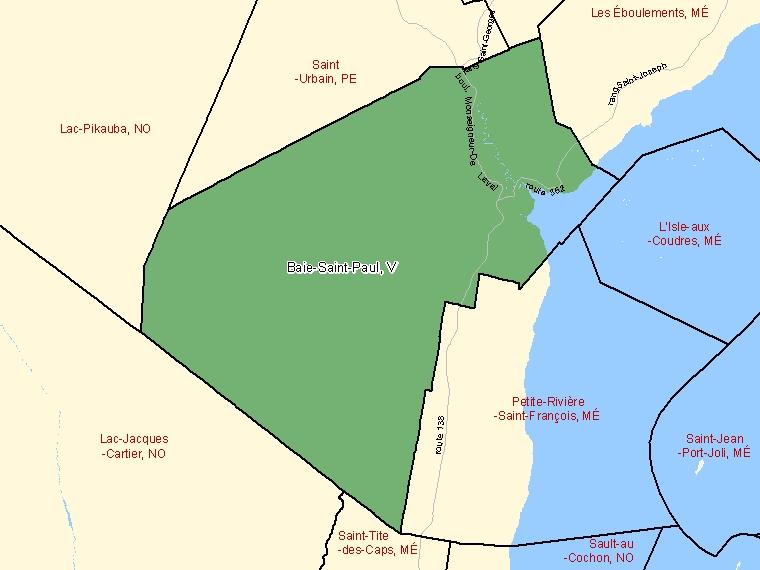 Map – Baie-Saint-Paul (V)