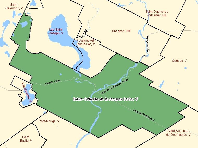 Map – Sainte-Catherine-de-la-Jacques-Cartier (V)
