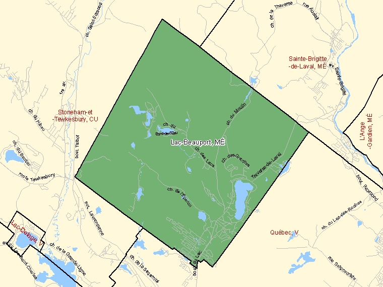 Map – Lac-Beauport (MÉ)