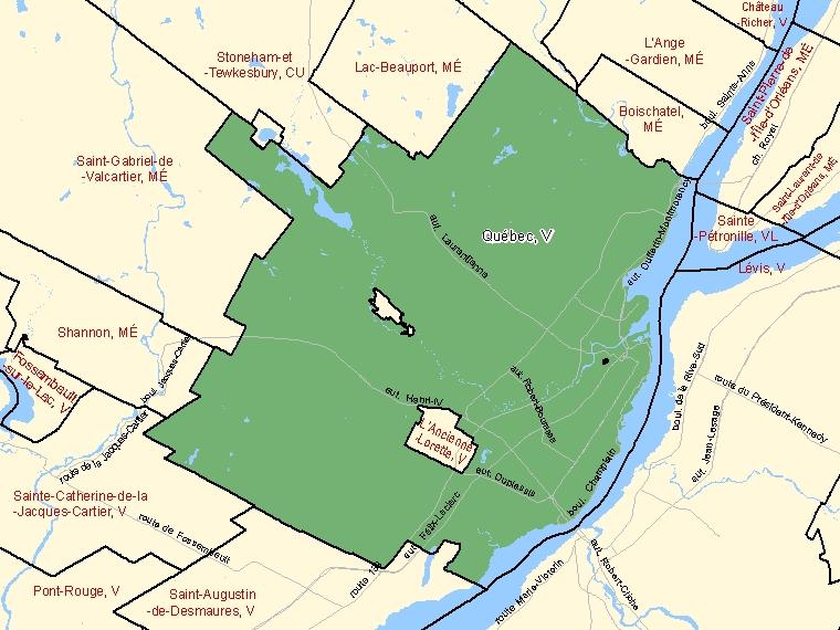 Map – Québec (V)
