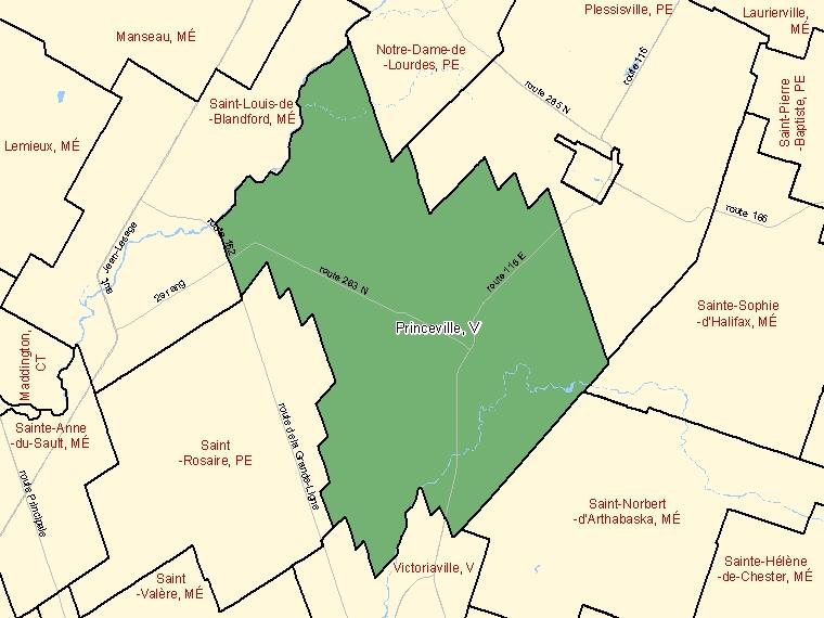 Map – Princeville (V)