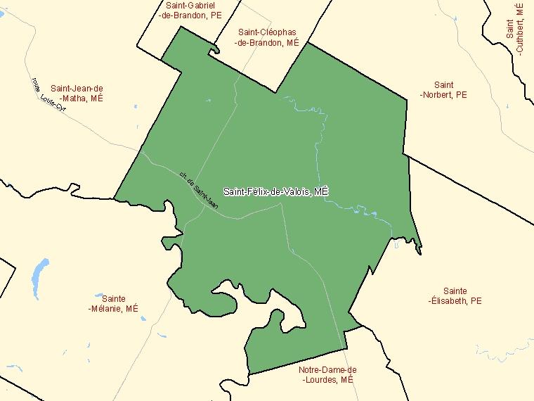 Map – Saint-Félix-de-Valois (MÉ)