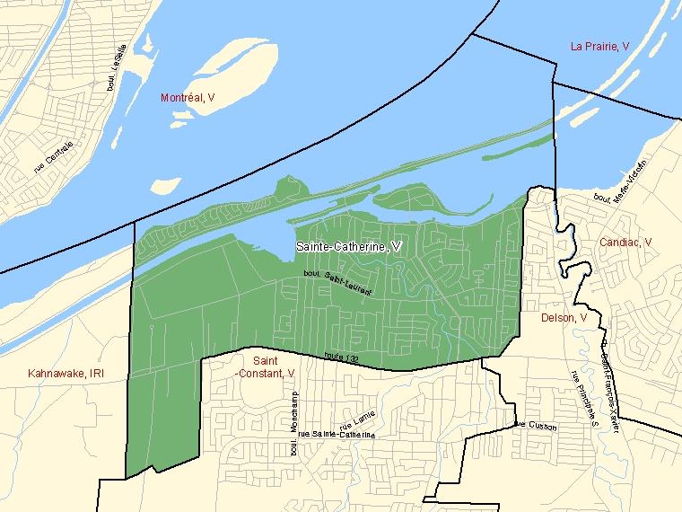 Map – Sainte-Catherine (V)