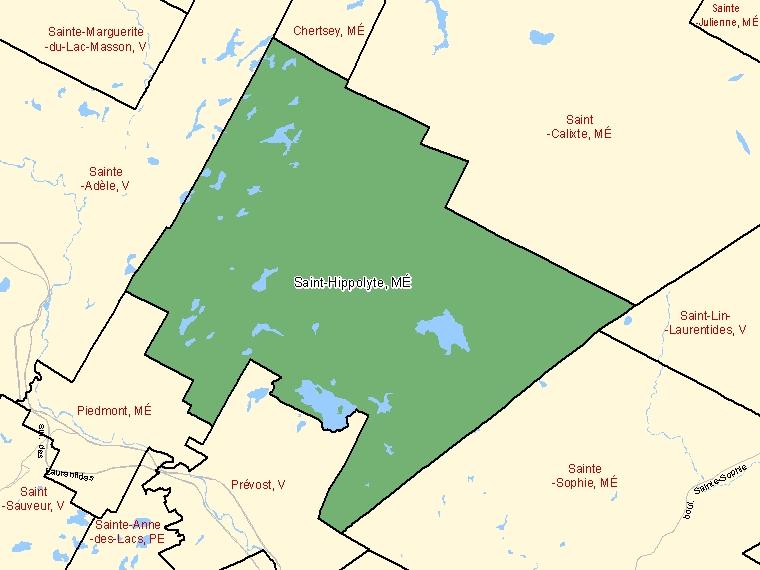 Map – Saint-Hippolyte (MÉ)