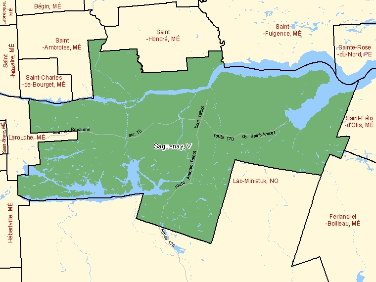 Map – Saguenay (V)