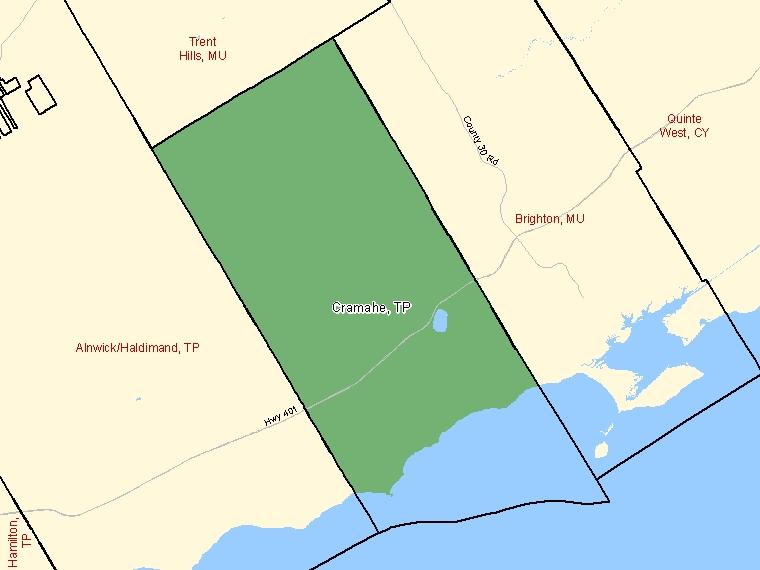 Map – Cramahe (TP)