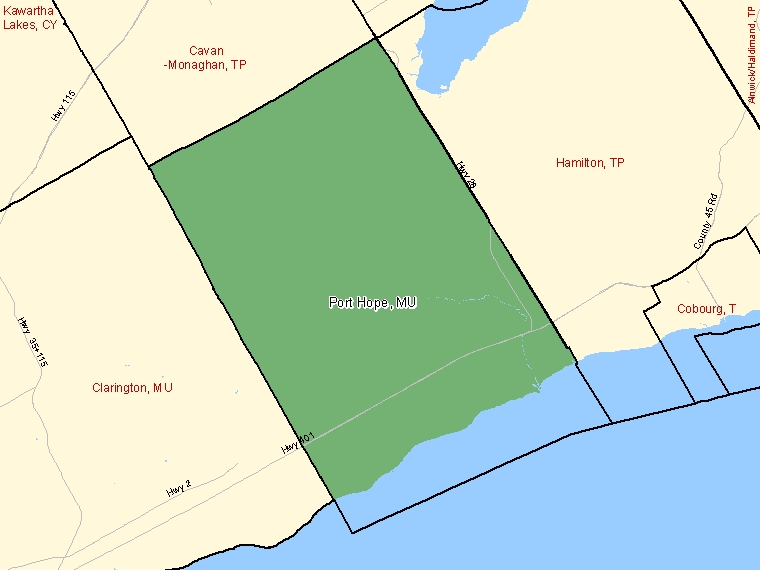 Map – Port Hope (MU)