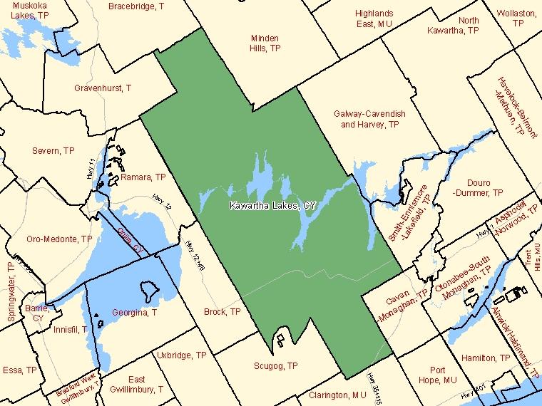 Map – Kawartha Lakes (CY)