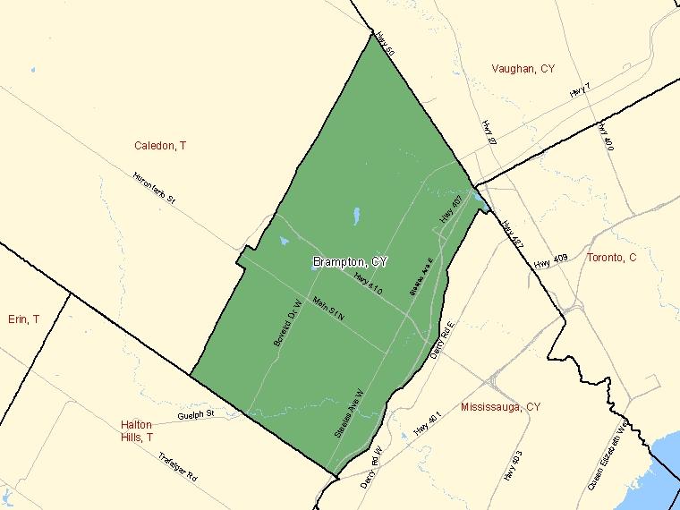 Map – Brampton (CY)