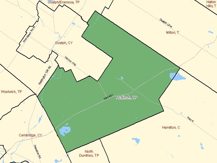 Map – Puslinch (TP)