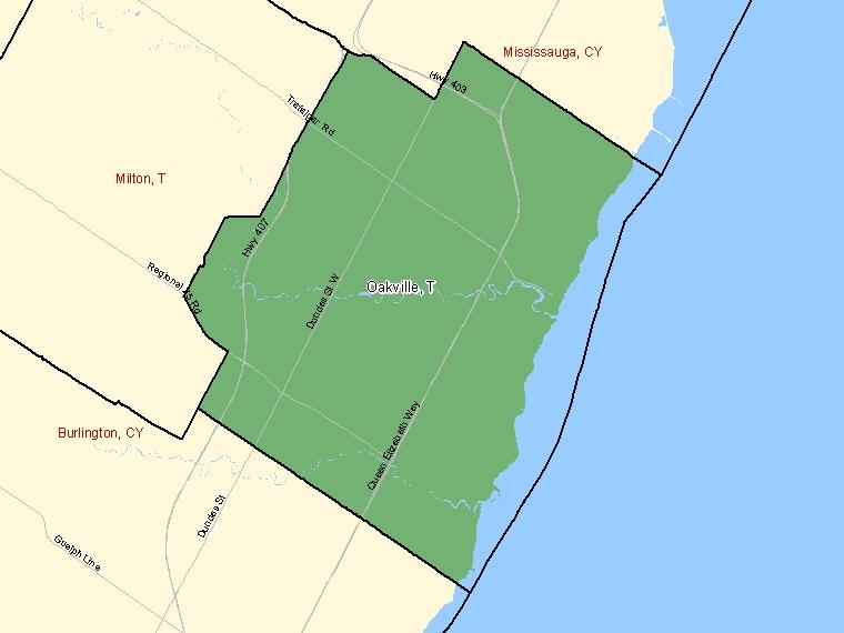 Map – Oakville (T)