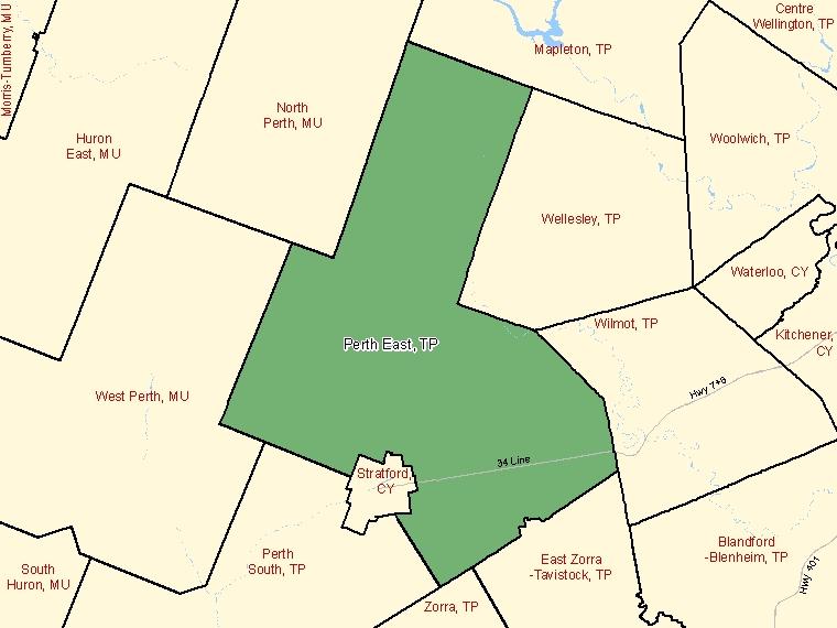 Map – Perth East (TP)
