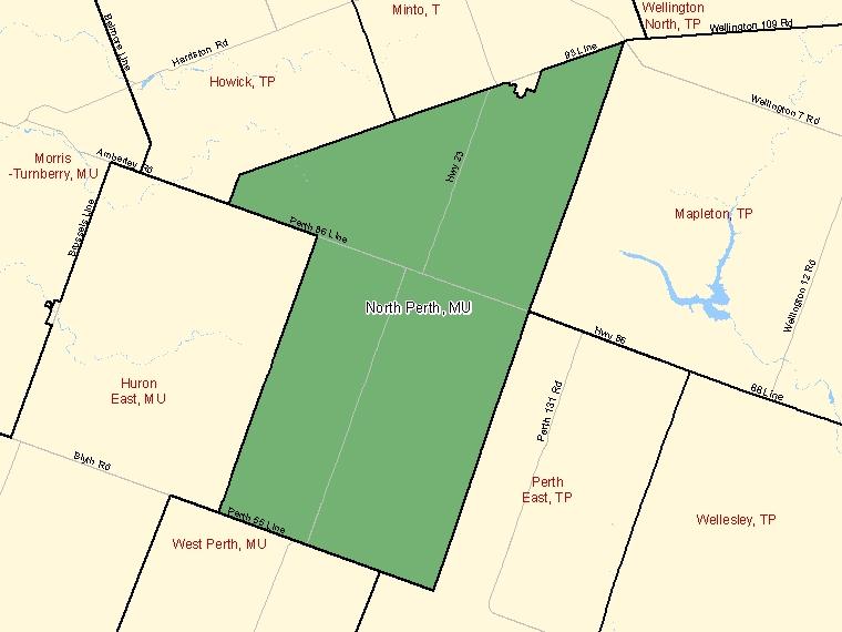 Map – North Perth (MU)