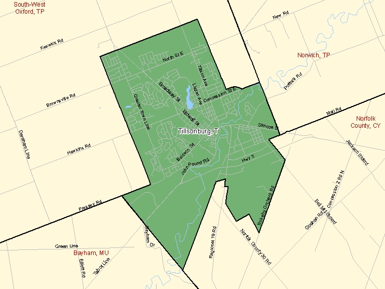 Map – Tillsonburg (T)