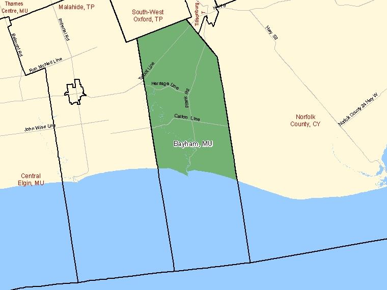 Map – Bayham (MU)