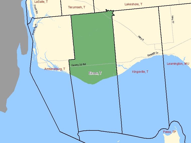 Map – Essex (T)