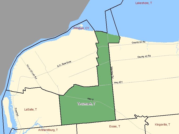 Map – Tecumseh (T)