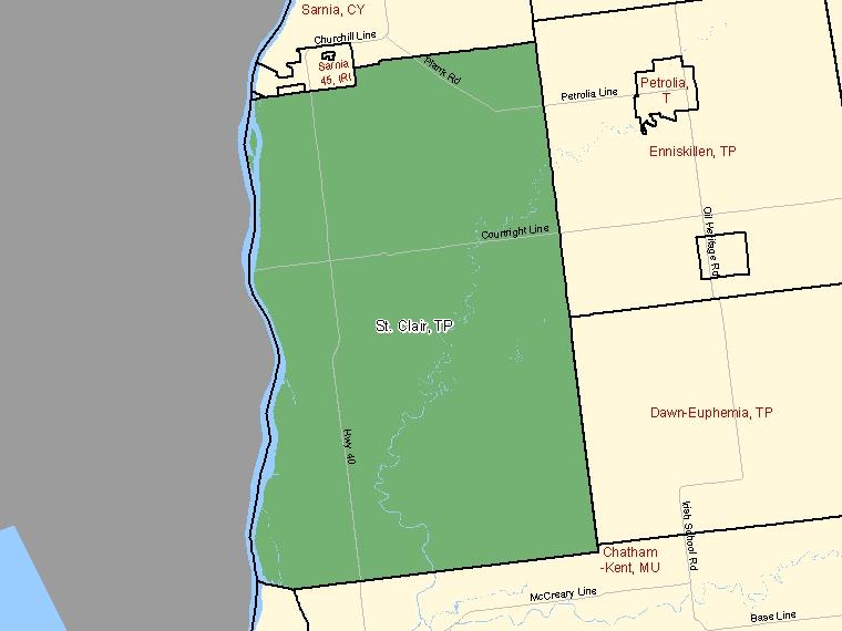 Map – St. Clair (TP)