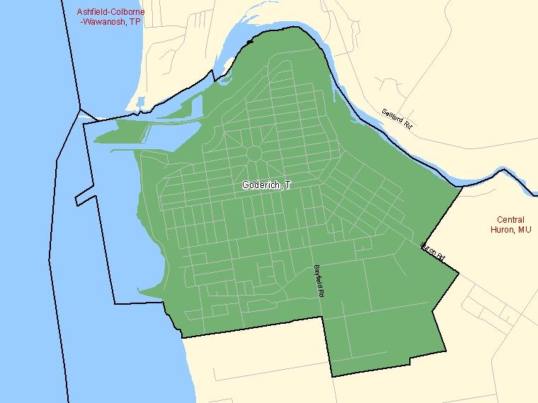 Map – Goderich (T)