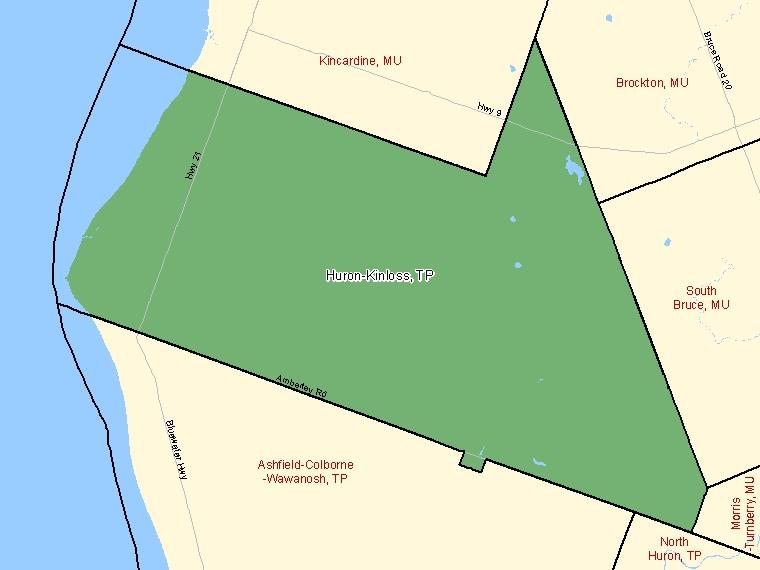 Map – Huron-Kinloss (TP)