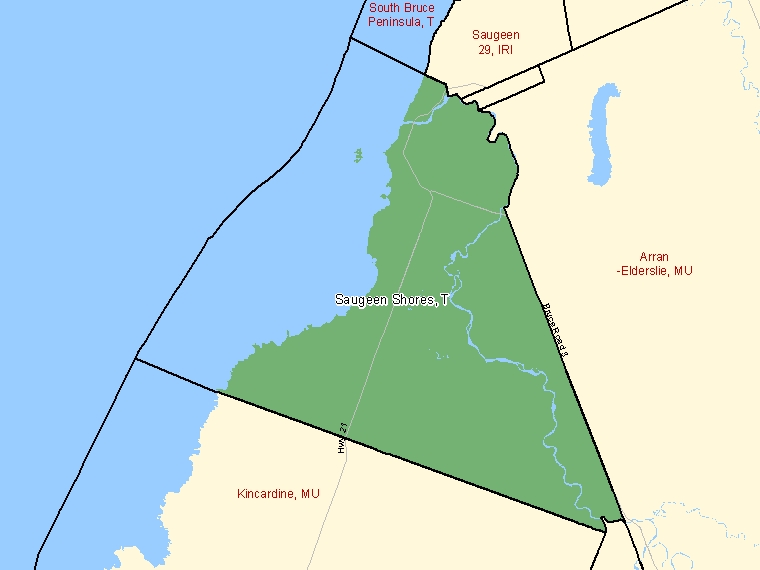 Map – Saugeen Shores (T)