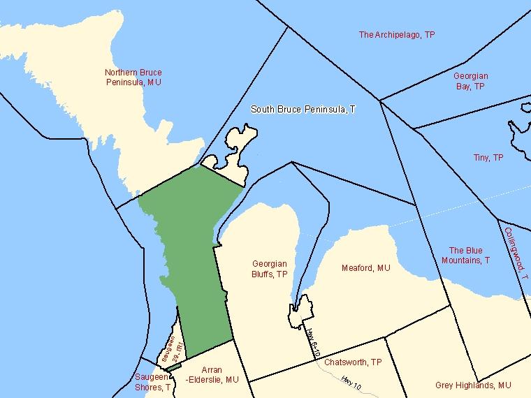 Map – South Bruce Peninsula (T)