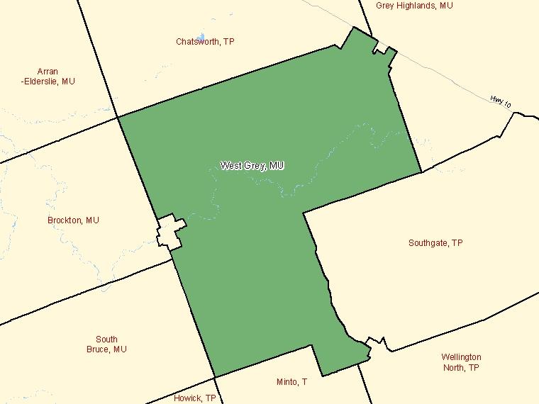 Map – West Grey (MU)